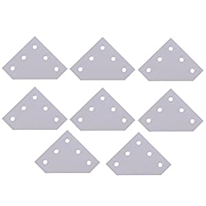 Mergorun?3D Printer 90 Degree 60 x 60 x 4MM L type with 5 Hole Joining Plates for CNC 2020 V-slot Aluminum profiles Pack of 8 by Mergorun