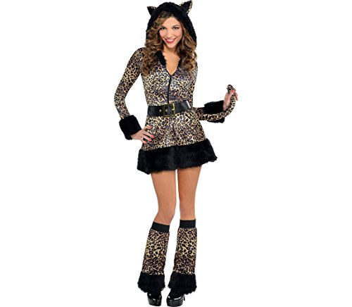 AMSCAN Pretty Kitty Costume-Cat for Women, Small, with included Accessories