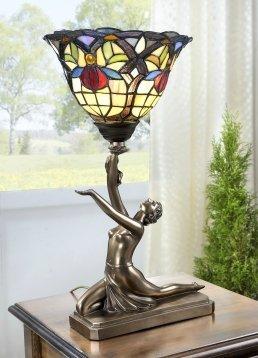 Lámpara Lámpara de resina de vidrio tiffany Multicolor bailarina ...