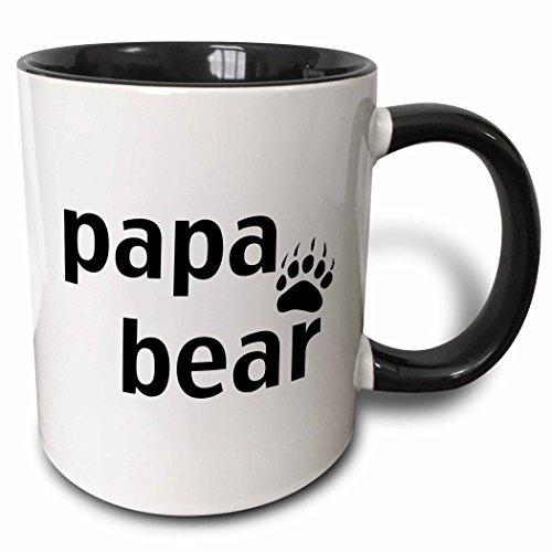 3dRose Papa bear Black mug 123094 4