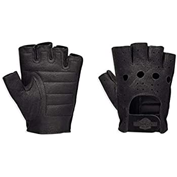 XX-Large Harley-Davidson Official Mens Fingerless Gloves Black