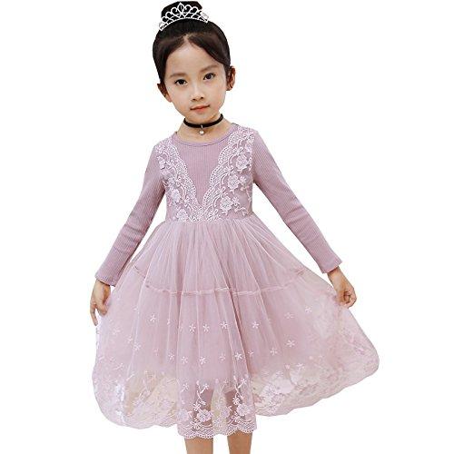 XIU RONG Princesa Con Pink Falda Vestidos Y De Vestidos Y De Bare Encaje Niñas rrdYxPA