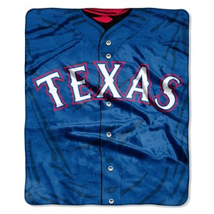 MLB Texas Rangers Jersey Plush Raschel Throw, 50