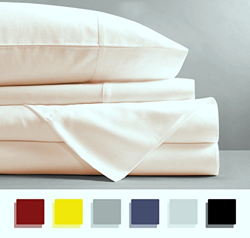 Mayfair Linen 100% EGYPTIAN COTTON Sheets, IVORY QUEEN Sheet