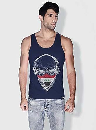 Creo Iraq Skull Tanks Tops For Men - Xl, Blue