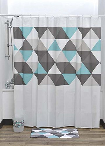 EVIDECO Nordik Shower Curtain, 71Wx71 H180cmx180cm, Multicolor