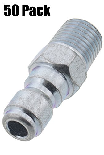 Erie Tools 50 Pressure Washer 1/4 Male NPT to Quick Connect Plug Zinc Plated Coupler, High Temp, 4000 PSI, 10.5 GPM by Erie Tools