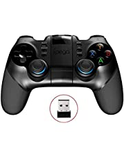 Bluetooth Game Controller for IOS Gamepad for iPhone/iPod/Ipad/Android Gamepad Controller for Phone Smart TV Box Win (Golden) Gamepad (Color : Black)
