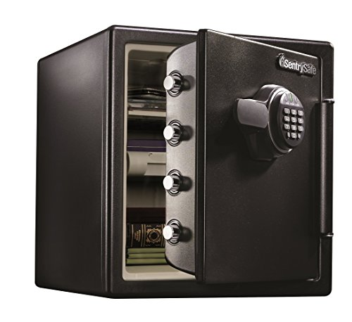 SentrySafe Fire Resistant and Water Resistant Safe, Advanced Protection for the Irreplaceable, 1.23 Cubic Feet, SFW123EU