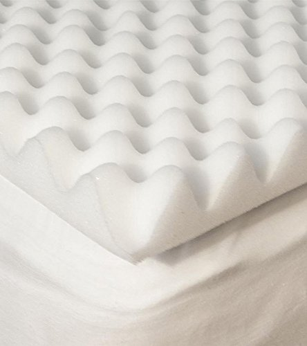 Hudson Industries Convoluted Mattress Topper Queen by Hudson Industries