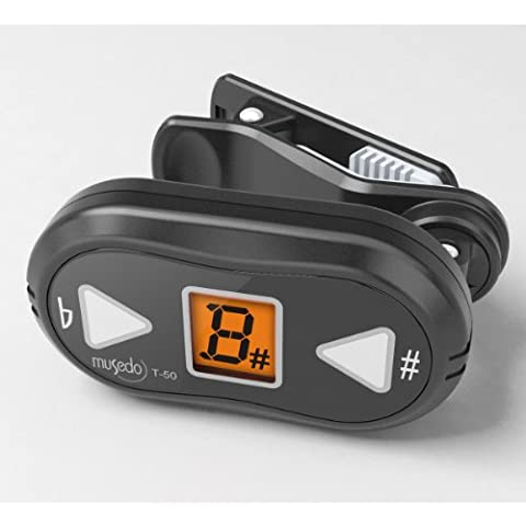 NEW Musedo | Small and Light Weight, with a Bright Display Clip-on Tuner, T-50 (Small Tuner)