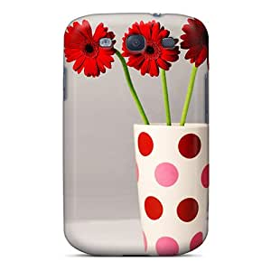 Tpu Case For Galaxy S3 With Vase Flowers