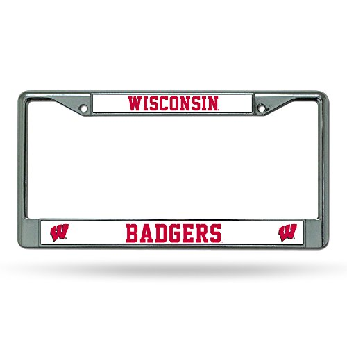 NCAA Wisconsin Badgers Chrome License Plate Frame, 12