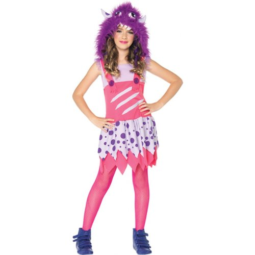 Monster Girl Sexy Costumes (Leg Avenue Furball Fergie Furry Monster Costume, Pink/Purple, Large)