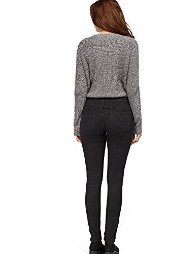 Jeans Zara Ex Black Femme Plain aYxPqw