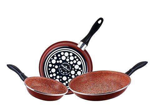 Burgundy 20cm Diameter Magefesa Terracotta Toscana Cooking Pot with Glass Lid