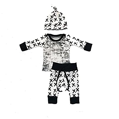 3pcs Outfits Set Newborn Toddler Infant Kids Baby Boy Clothes T-shirt Tops+Pants