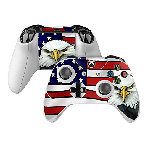 American Eagle Skin Decal Compatible with Microsoft Xbox One and One S Controller - Full Cover Wrap for Extra Grip and Protection American Flag Design Faceplate