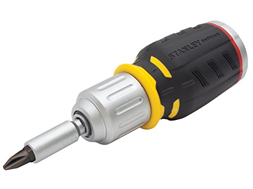 Stanley FMHT0-62688 Bit-Screwdriver with 6 Bits PH/PZ, Black