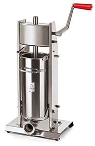 Paderno World Cuisine Vertical Sausage Stuffer, 5-1/4-Quart, Stainless Steel
