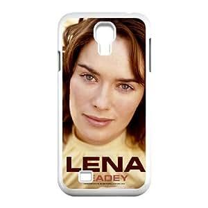 MAGNÍFICO Lena Headey para funda Samsung Galaxy S4 9500 funda del teléfono celular de cubierta blanca