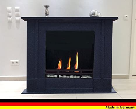 Chimenea Etanol y Gel Modelo Rafael Premium - Elige el color (Granito oscuro)