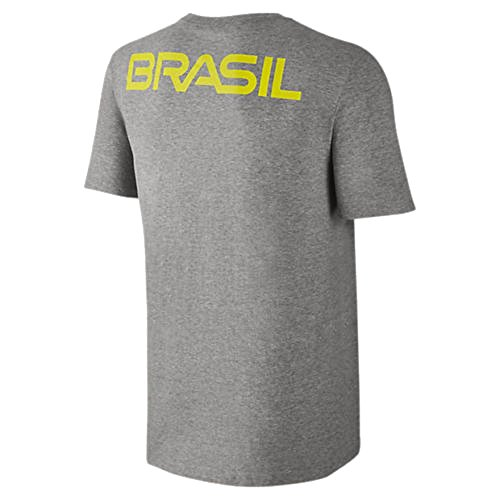 Nike Mens Brasil Olympic Team S/S Athletic Cut T-Shirt Grey 801145-063 (Medium)