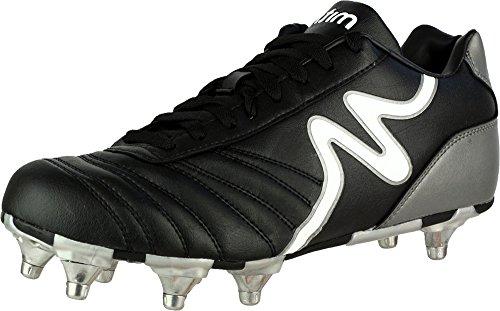 New Mitre Italia-Kiwi Rugby Boots Mens Athletic Sports Running Footwear Black lG2Ew1
