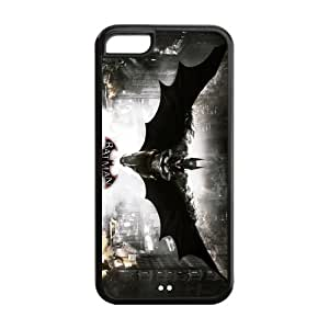 5C Case, iPhone 5C Case - Fashion Style New Batman Painted Pattern TPU Soft Cover Case for iPhone 5C (Black/white)