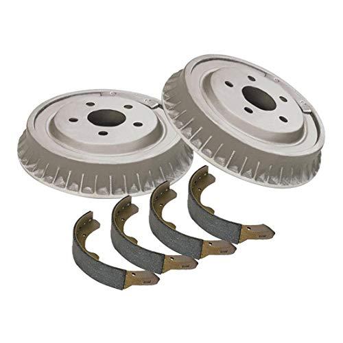 (AutoDN Rear Brake Drum and Premium Shoe 3PCS For 1959-1964 Cadillac Series 62)