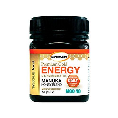 Manukaguard Premium Gold Energy Mgo 40 8 8 Oz    250G Raw Manuka Honey Blend
