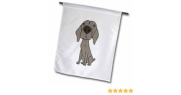 3drose Fl 200123 1 Cute Weimaraner Puppy Dog Cartoon Garden Flag 12 By 18 Inch Garden Outdoor