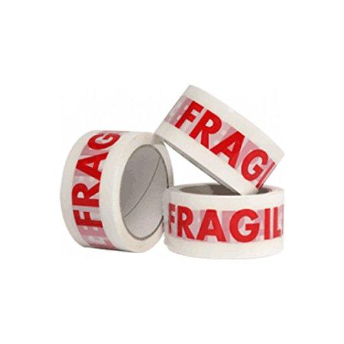 /12/rouleaux 48/mm x 66/m Fragile Emballage de colis ruban adh/ésif gratuit Livraison Rapide Realpack/â /®/