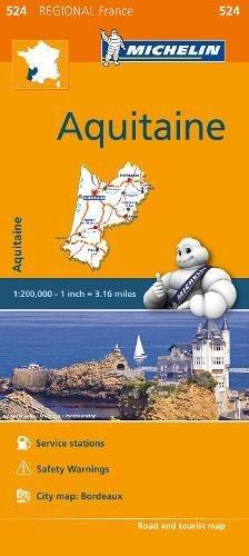 Aquitaine - Michelin Regional Map 524 (Michelin Regional France, Band 524)