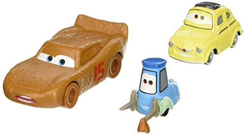 Disney/Pixar Cars 3 Lightning McQueen as Chester Whipplefilter, Luigi, and Guido Die-Cast Vehicles, 3 - Deal 3 Warehouse