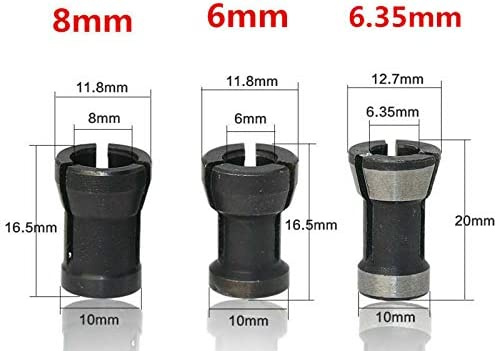 Router Bit Milling Collet Reduction Sleeve Extender HSS