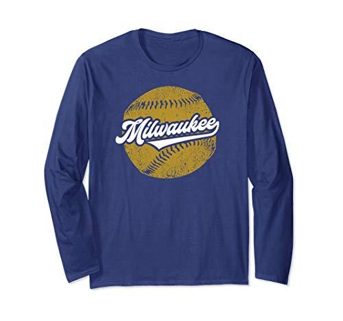(Milwaukee Baseball | Vintage Brewer Baseball Retro Gift Long Sleeve T-Shirt )