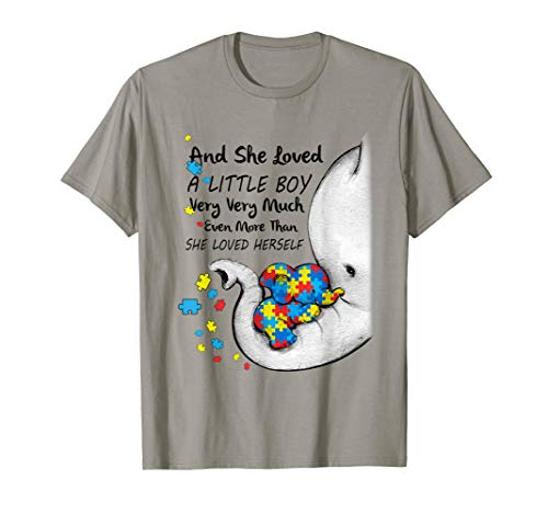 She Loved A Little Boy Very Much Autism Elephant Autism Mom T-Shirt