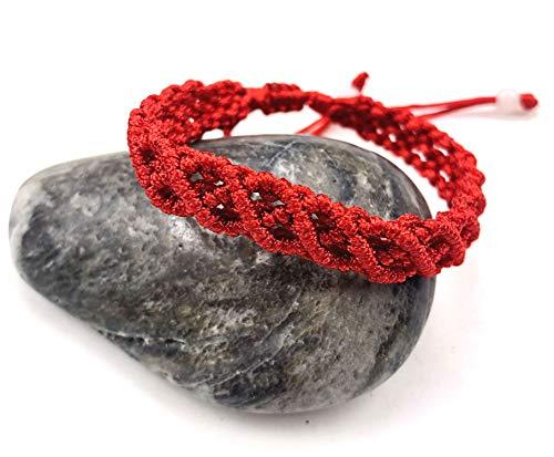 LUOS Handmade red String Bracelet Anklet - Wealth Goodluck Prosperity Protection Women Men Kids - st003