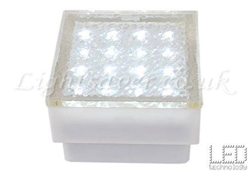 block paving lighting. White LED Outdoor Block Paving Brick Style Drive Over Lights, Path Wall Lights Lighting