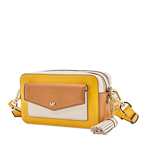 Michael Kors Small Tri-Color Leather Camera Bag- Jasmine ()