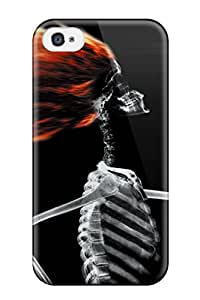 High Quality ETS-692pBrJUXcR X-ray Skeleton Hair Drying Tpu Case For Iphone 4/4s