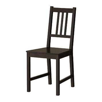 Ikea 002.110.88 Stefan - Silla (madera, 42 x 49 x 90 cm, asiento: 36 x 39 x 45), color marrón/negro: Amazon.es: Hogar