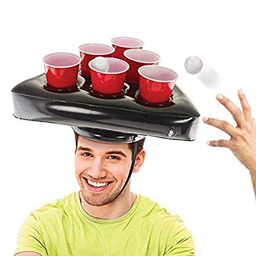 Inflatable Beer Pong Rack Hat Ring Toss Game for Adult Pool Beach Party