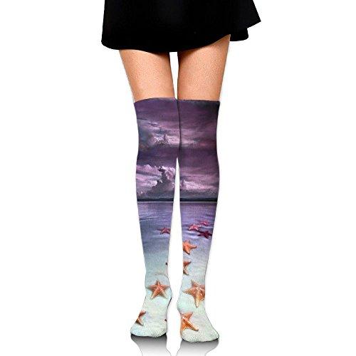 四分円バンド共産主義砂浜 ストッキング サイハイソックス 3D デザイン 女性男性 秋と冬 フリーサイズ 美脚 かわいいデザイン 靴下 足元パイル ハイソックス メンズ レディース ブラック