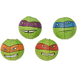 American Greetings Teenage Mutant Ninja Turtles Paper Lantern Decoration, Party Supplies (4 Count)