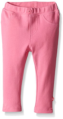 (Zutano Baby Girls' Primary Solid Stretch Knit Jegging, Hot Pink, 18 Months)