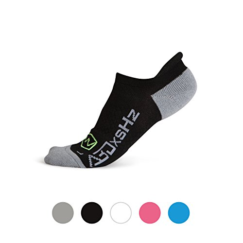 Low Cut Running Socks FEATURING Embedded Frequency Tech. 4 Improved Stamina Endurance & Balance 4 Men & Women. Pro Compression Arch Support (S/M, BLK)