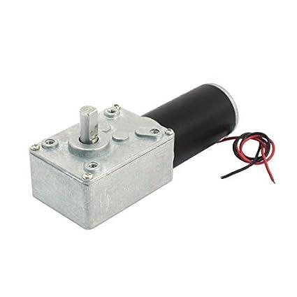 eDealMax 19cm de Largo de Doble alambre de Plomo 5500/50 RPM Velocidad Reducir Worm