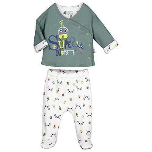 624cc24be1e3e Ensemble bébé garçon gilet double épaisseur + sarouel Supernoisette avec  pieds - Taille - 9 mois